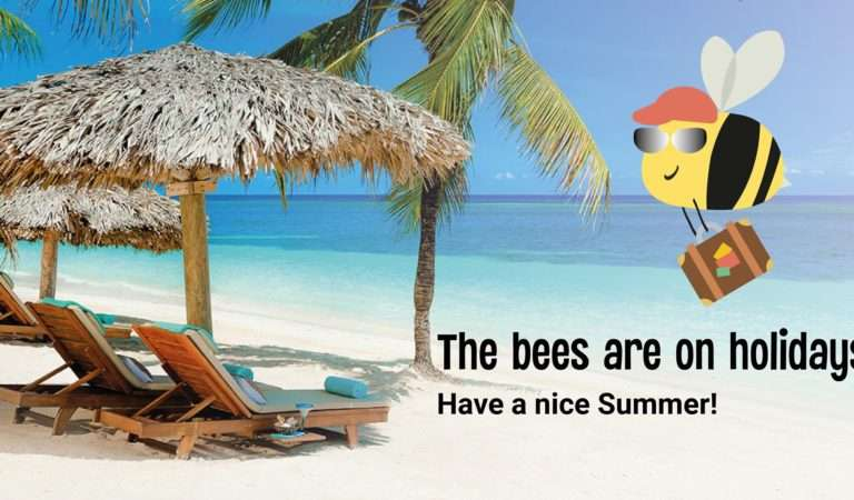 The bees are on holidays!